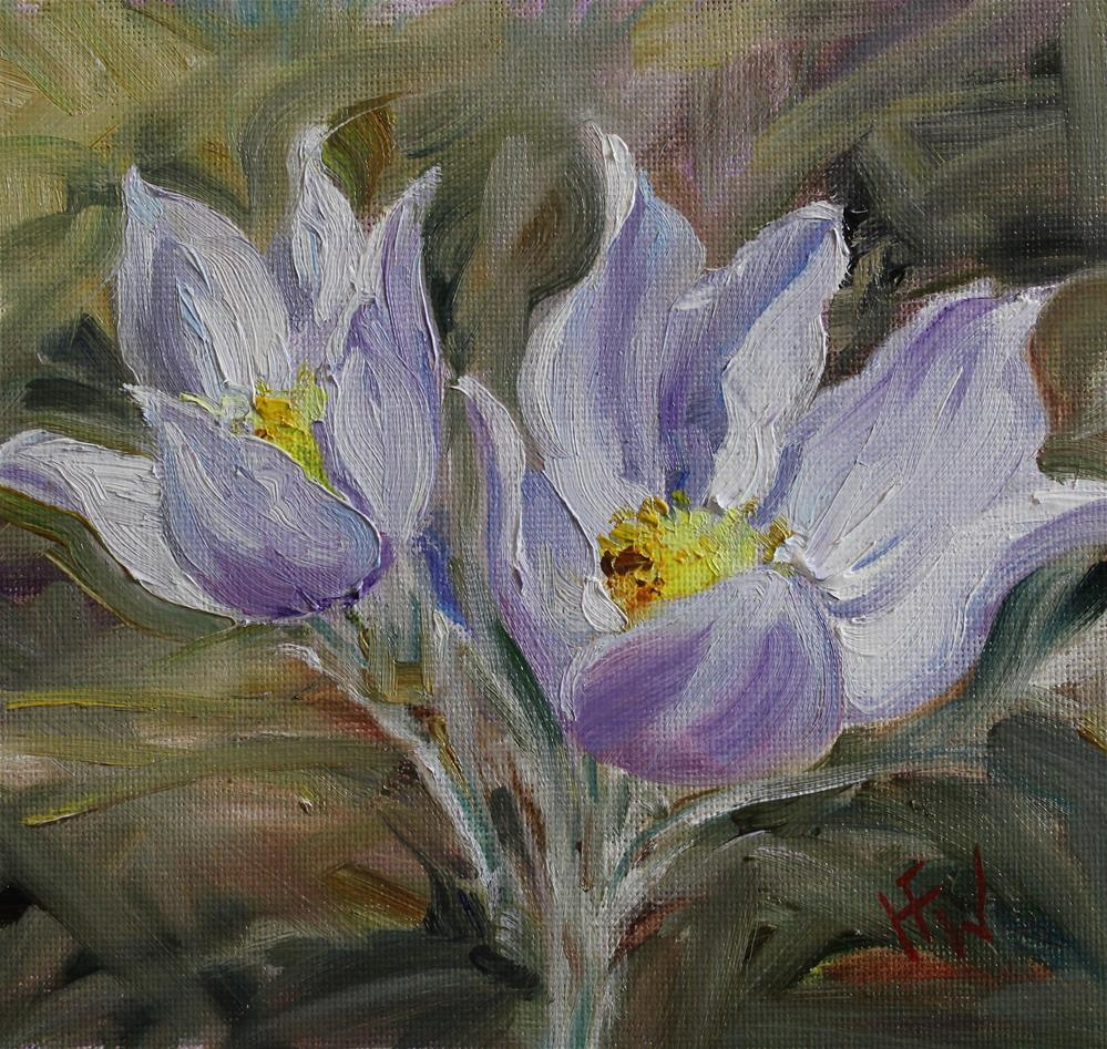 """Wild Crocus"" original fine art by H.F. Wallen"