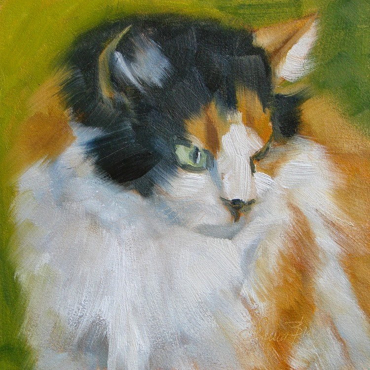 """Callie - 358"" original fine art by Laura  Buxo"