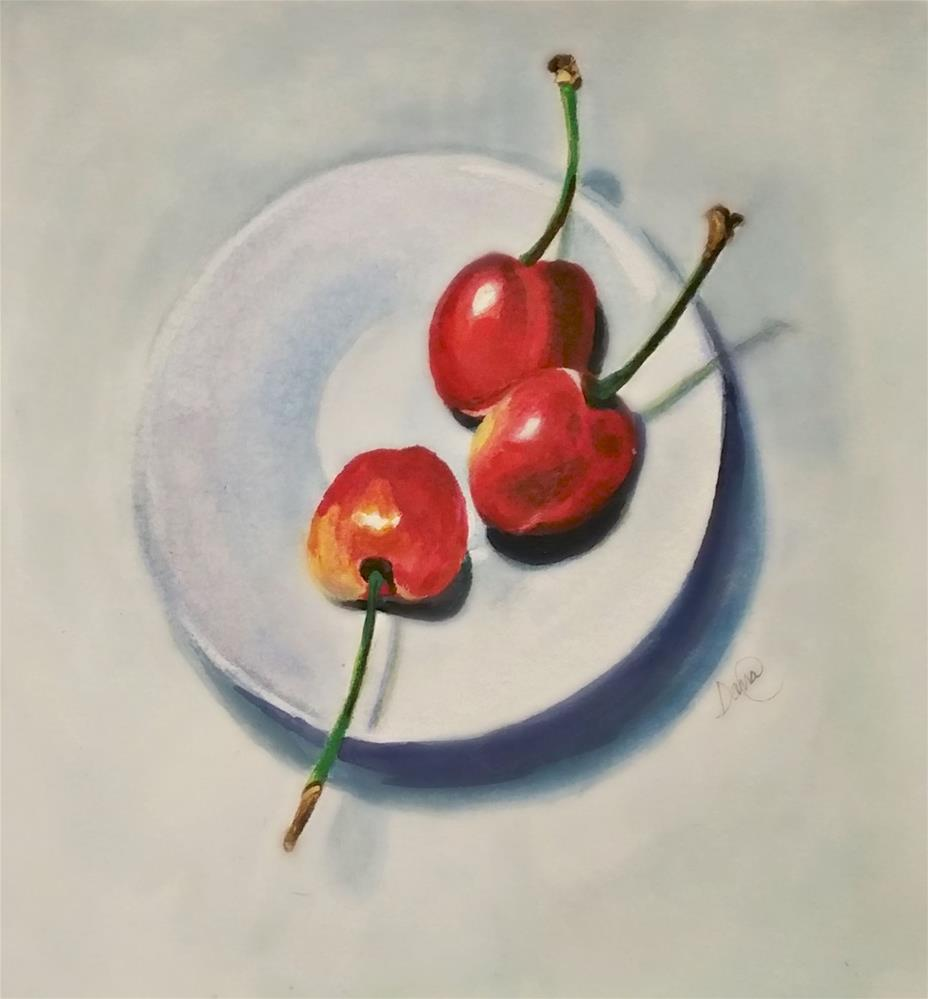 """Cherries Anyone"" original fine art by Dana C"