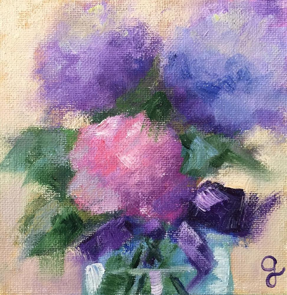 """Hydrangea mix"" original fine art by Gayle Lambeth"