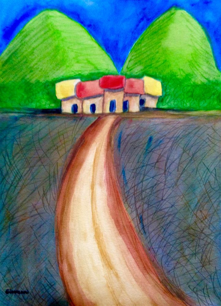 """The two hills"" original fine art by Giovanni Antunez"