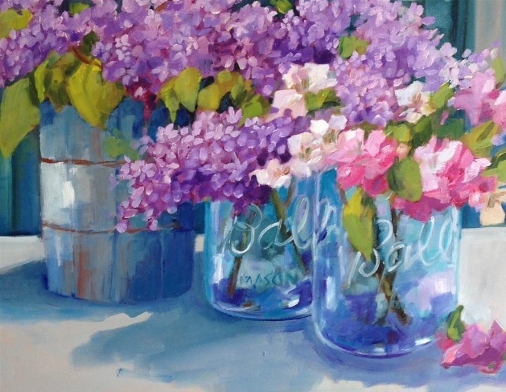 """""""Sarah's Birthday"""" original fine art by Libby Anderson"""