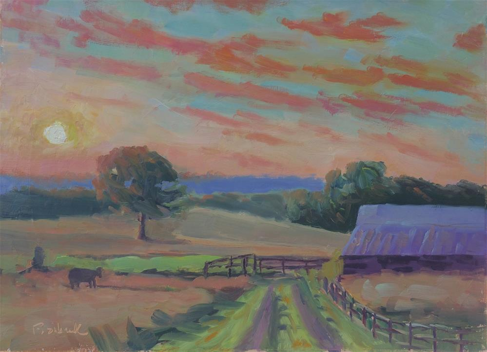 """Fahey Sunset"" original fine art by Daniel Fishback"