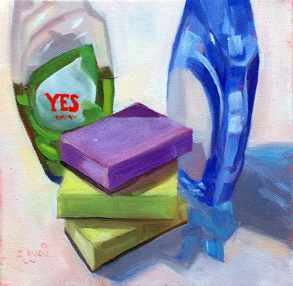 """Y - is for Yes"" original fine art by Suzanne Gysin"