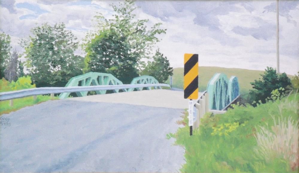 """Pitchin Road Bridge"" original fine art by Greg Arens"