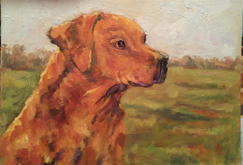 """My Boy at the Watch"" original fine art by angela scully"