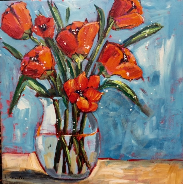 """Tulip Spray"" original fine art by Martha Lever"