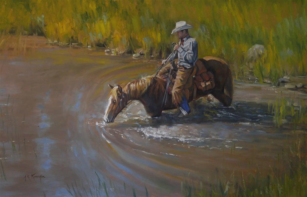 """""""Deep and Dirty"""" original fine art by Rick Kennington"""