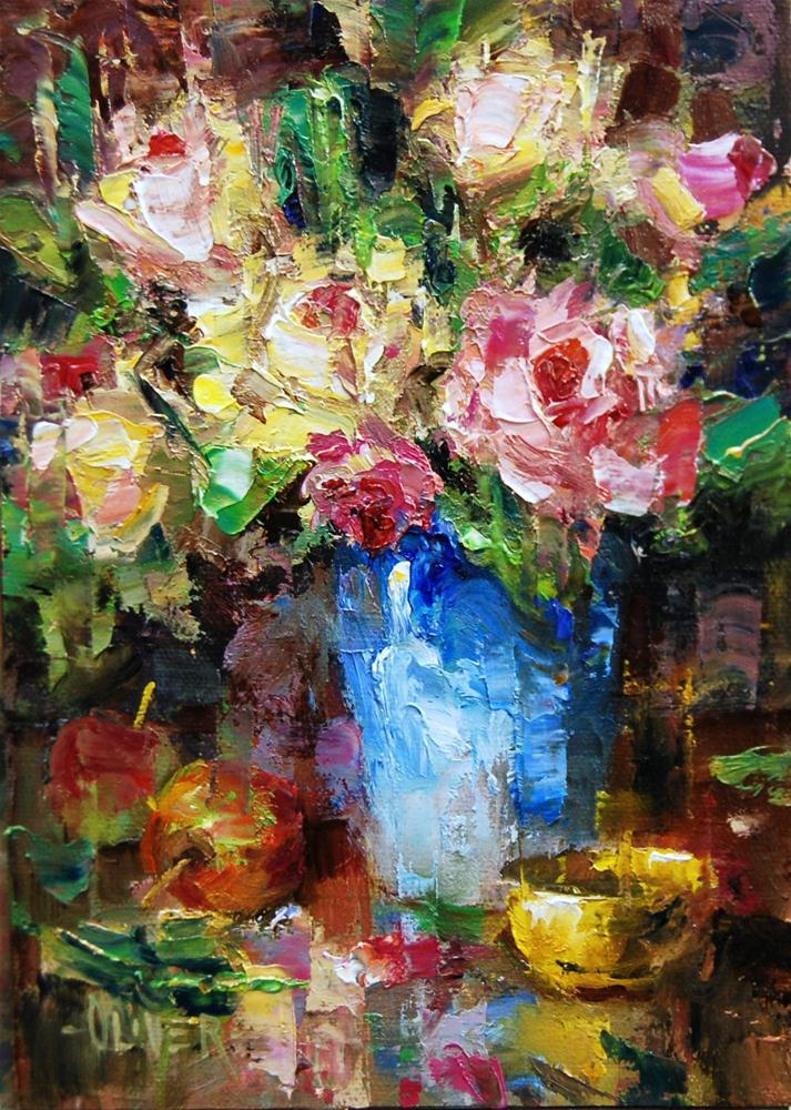 """The Rose Bouquet"" original fine art by Julie Ford Oliver"