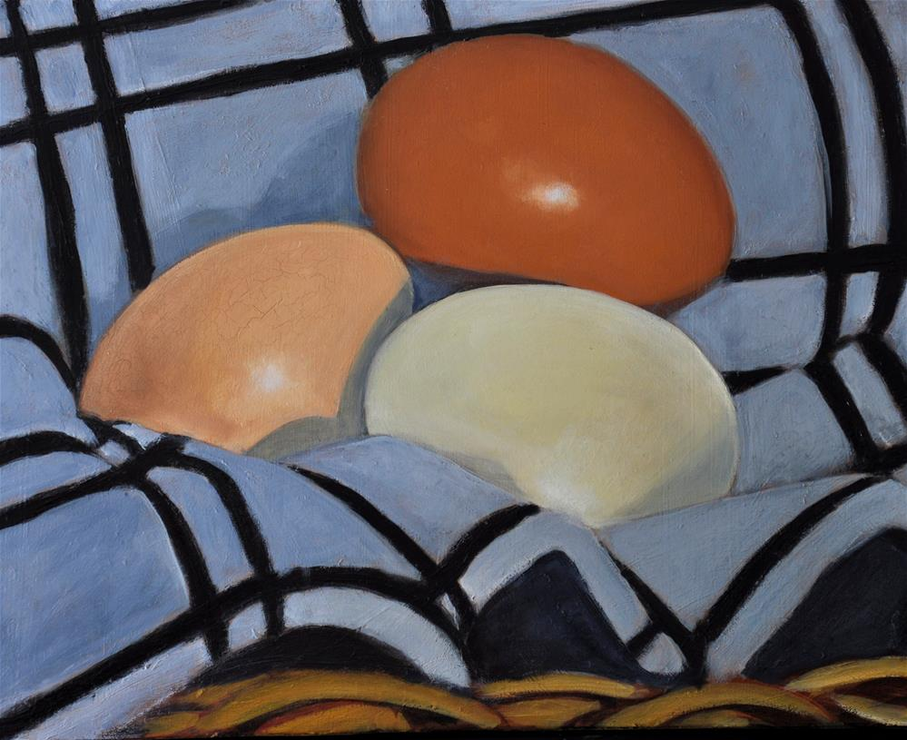 """Eggs"" original fine art by Margot Cole"