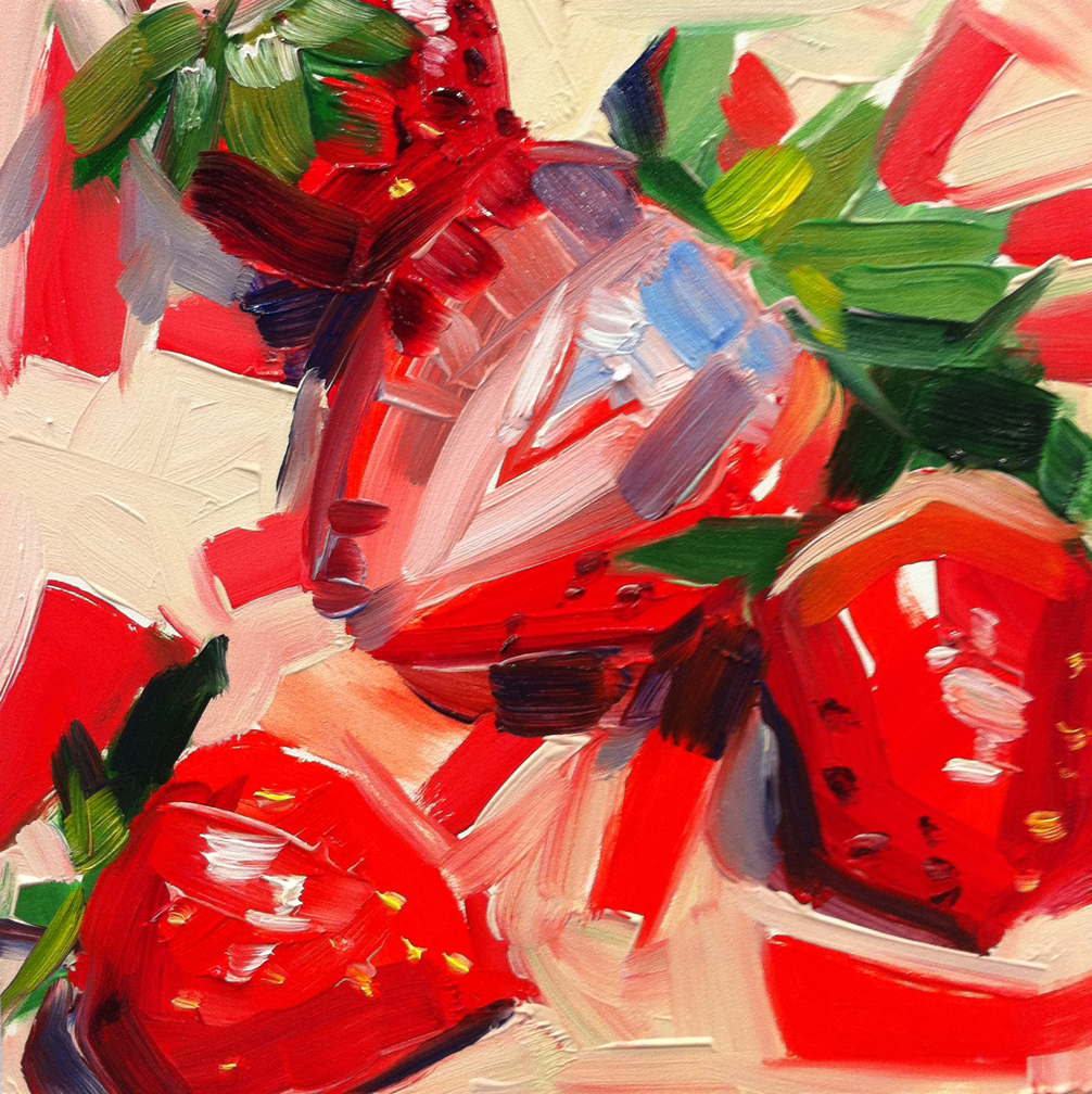 """Strawberries"" original fine art by Katy O'Connor"