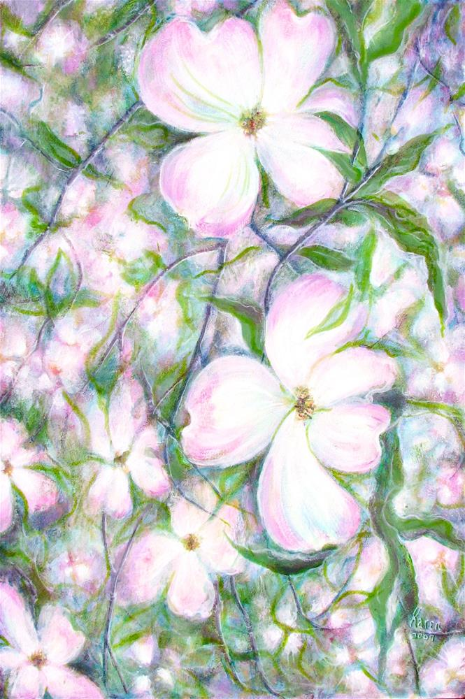 """Lessons in Dogwood"" original fine art by Karen Roncari"