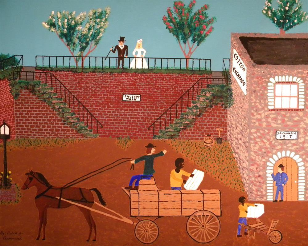 """Savannah 1817"" original fine art by Robert Provencial"