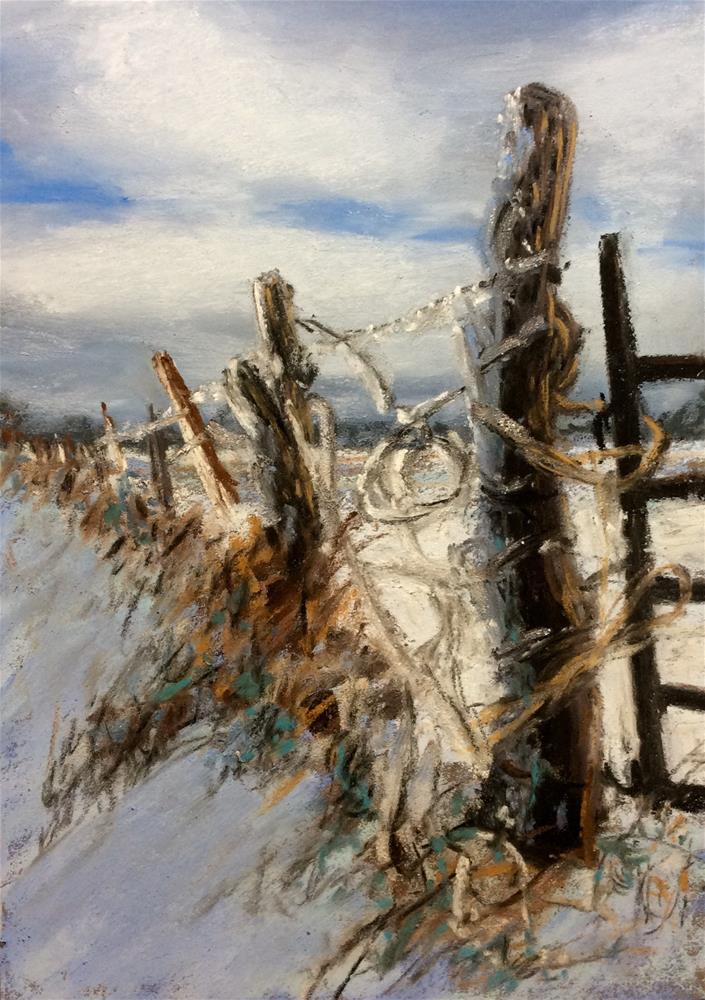 """Fence Post"" original fine art by Marti Walker"