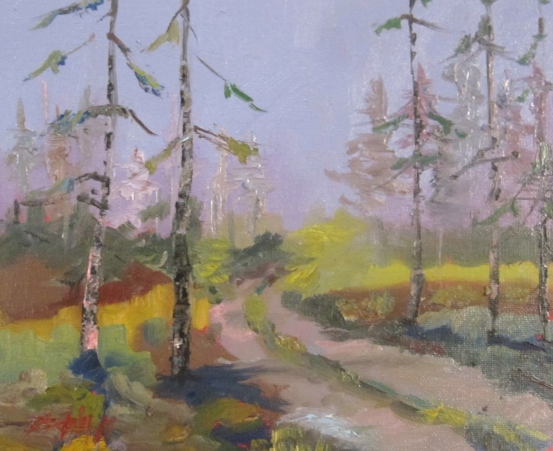 """Pine Forrest"" original fine art by Delilah Smith"
