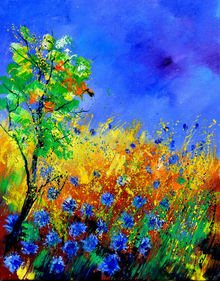 """cornflowers 451170"" original fine art by Pol Ledent"