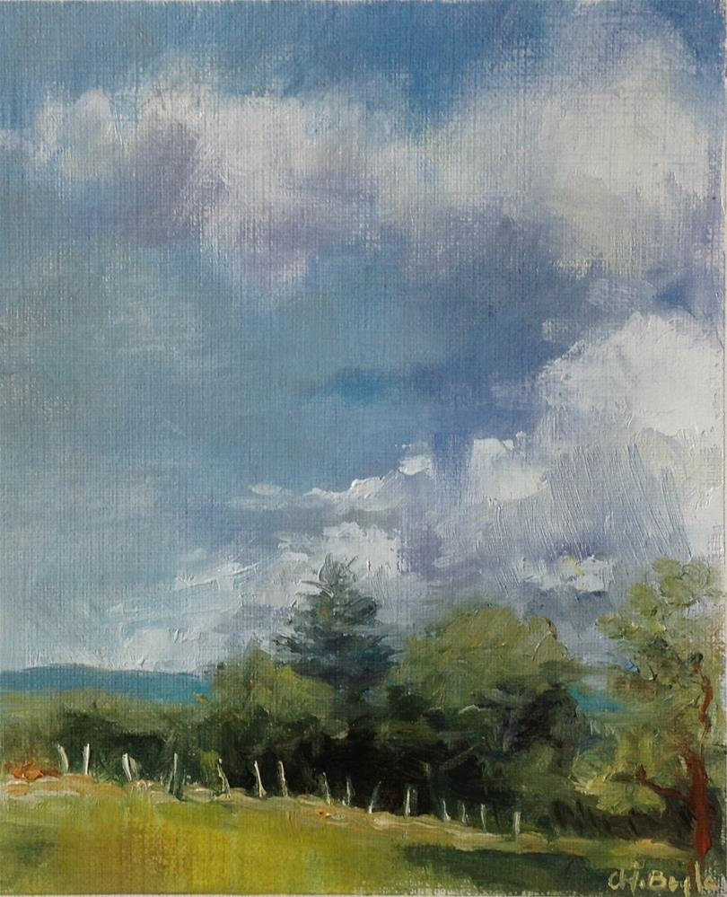 """French countryside"" original fine art by Christine Bayle"