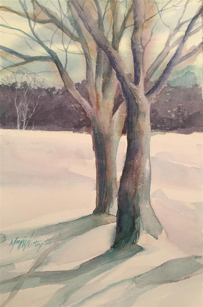 """Winter trees"" original fine art by Margie Whittington"