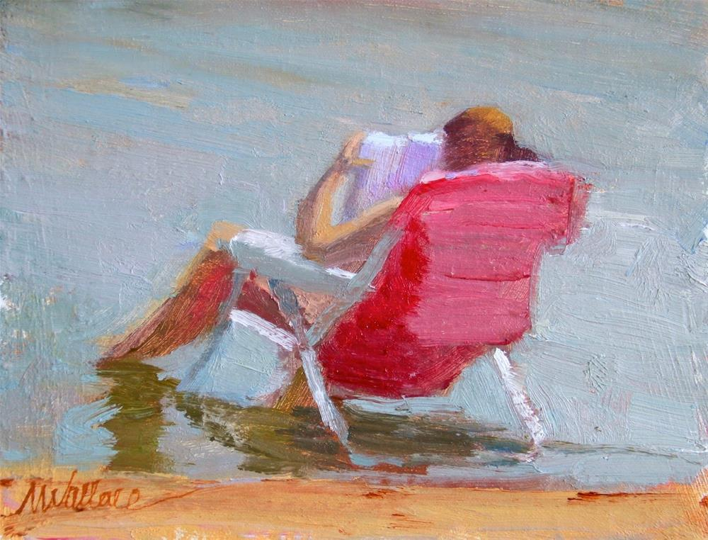 """#31 Reader chilling"" original fine art by Nancy Wallace"