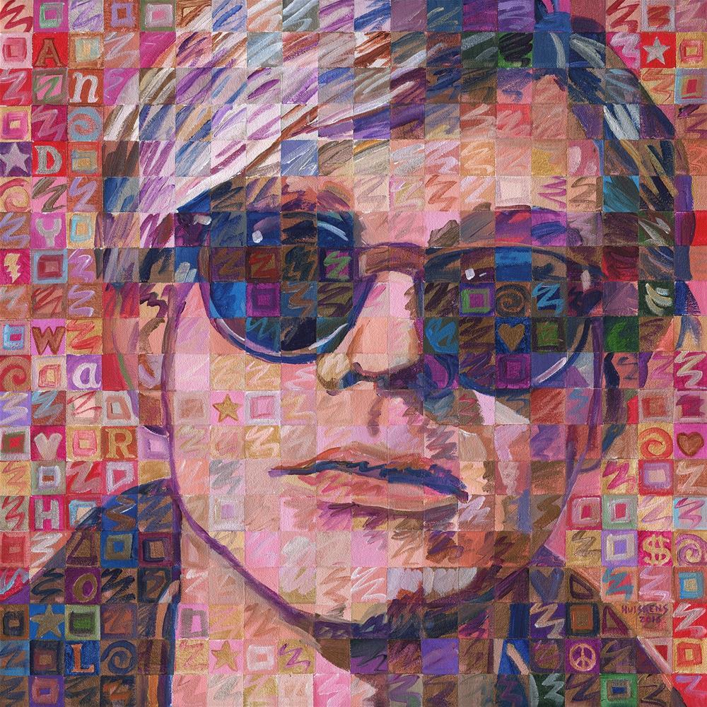 """Iridescent Andy Warhol"" original fine art by Randal Huiskens"