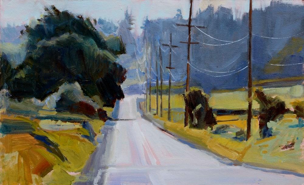 """View Near Crockett Lake"" original fine art by Gretchen Hancock"