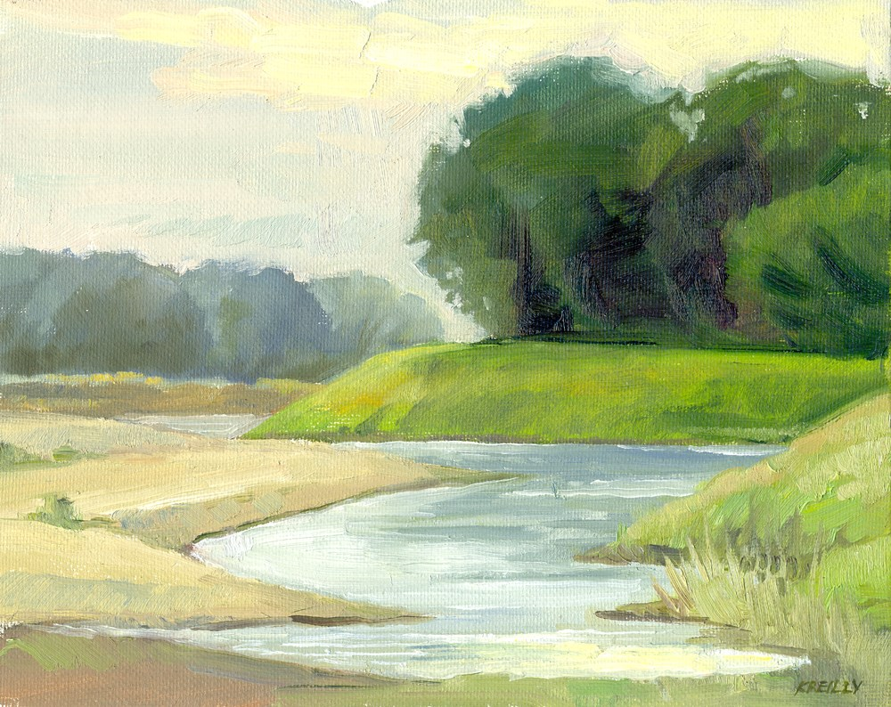 """""""Morning on the River"""" original fine art by Kath Reilly"""