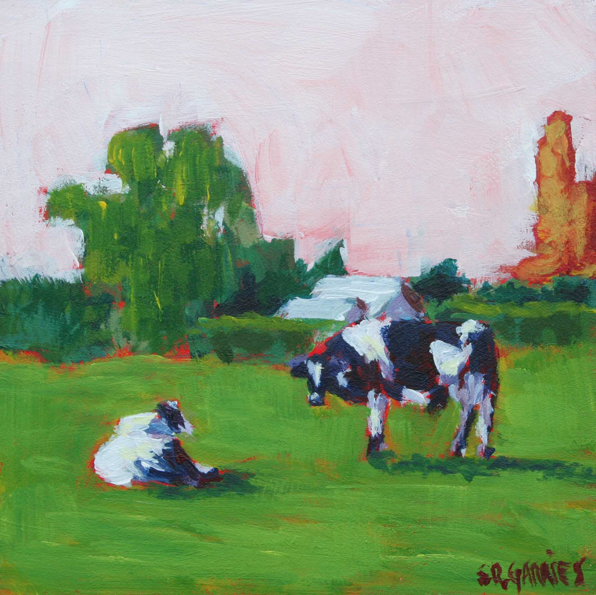 """bradner bovines"" original fine art by Shelley Garries"
