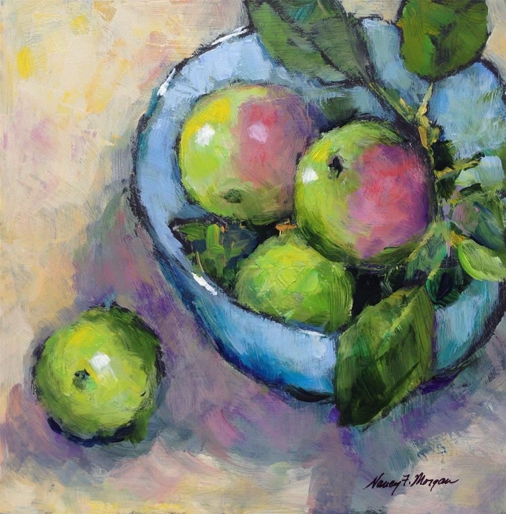 """July Apples"" original fine art by Nancy F. Morgan"