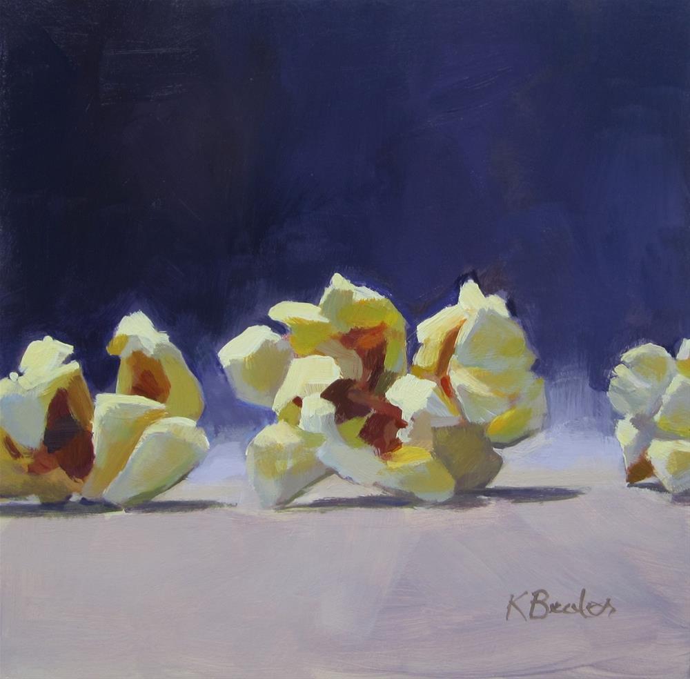 """Popcorn"" original fine art by Kaethe Bealer"
