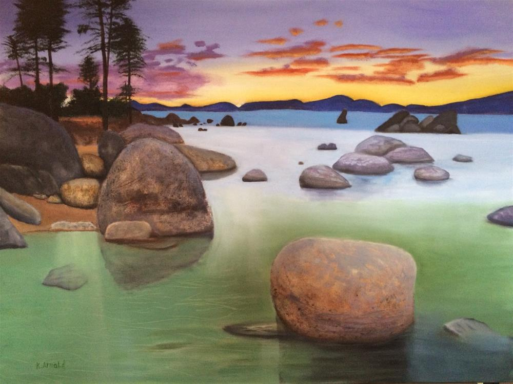 """Sand Harbor"" original fine art by Kenny Arnold"