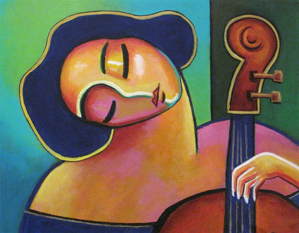 """Cello Solo"" original fine art by Stuart Glazer"