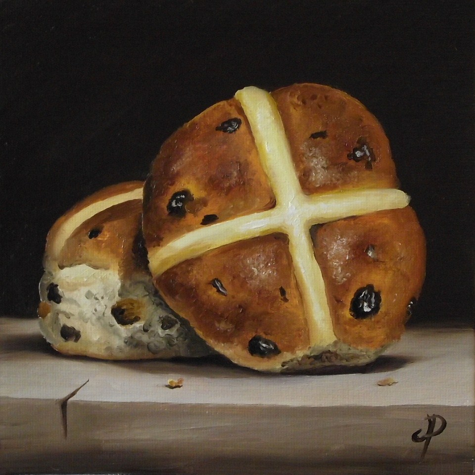 """Hot Cross Buns"" original fine art by Jane Palmer"