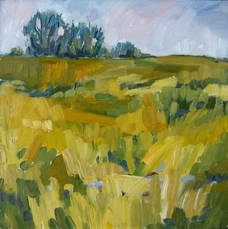 """Patchwork Prairie"" original fine art by Nicki Ault"