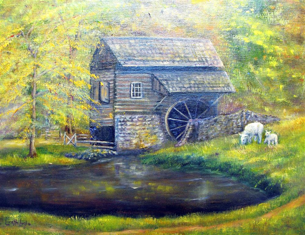 """Bromley Mill"" original fine art by Loretta Luglio"