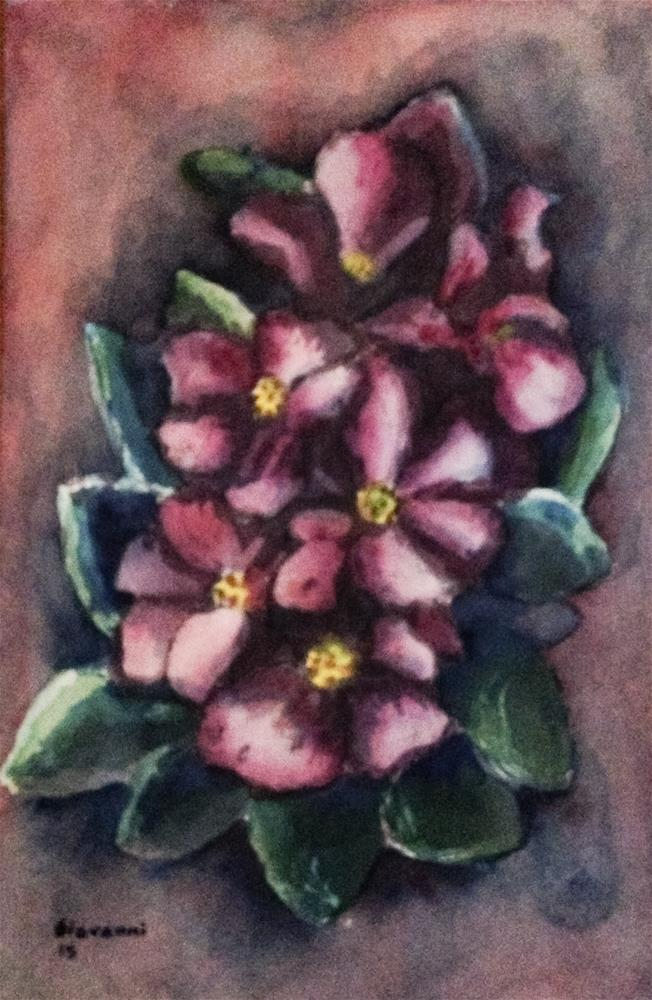 """Flowers (Purple flowers)"" original fine art by Giovanni Antunez"