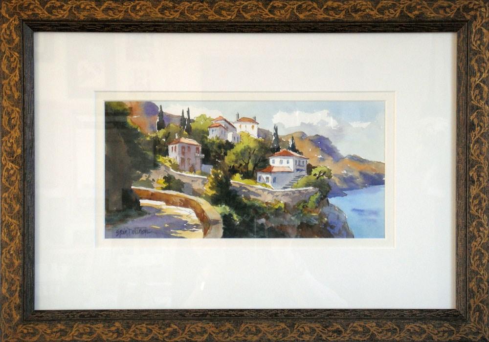"""Hydra Hillside"" original fine art by Erin Dertner"