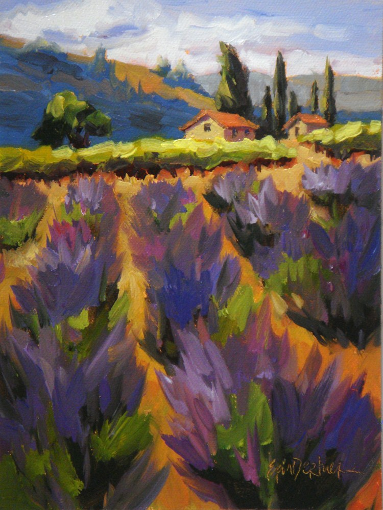 """Every Shade of Lavender"" original fine art by Erin Dertner"
