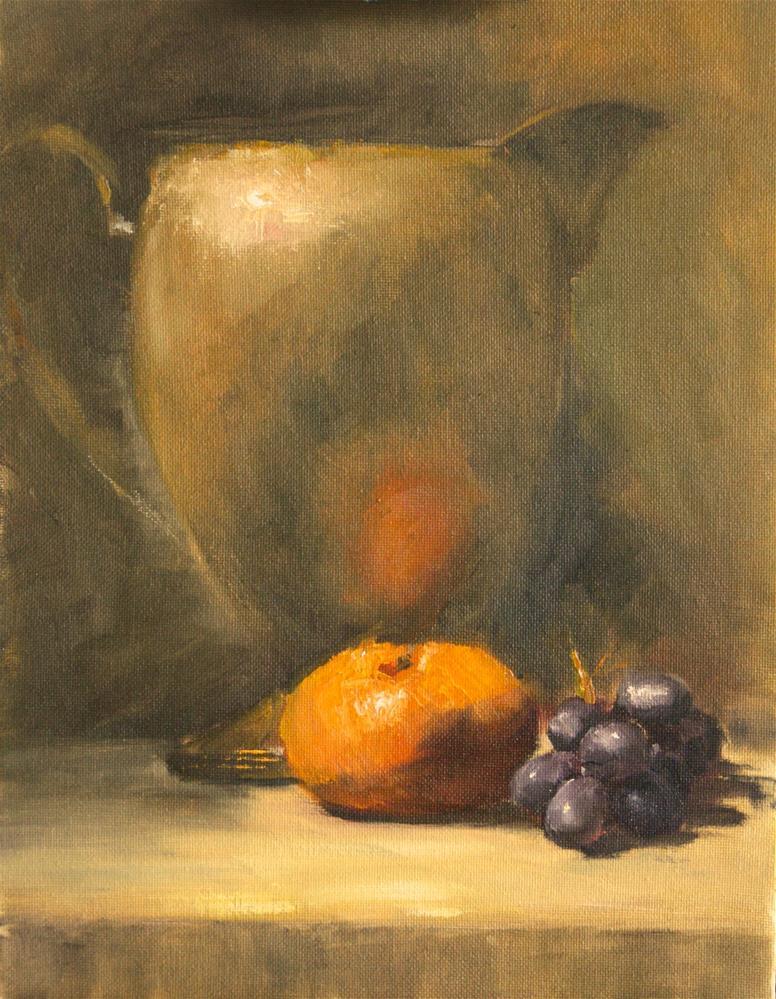 """Clementine and Pitcher"" original fine art by David Wesselman"