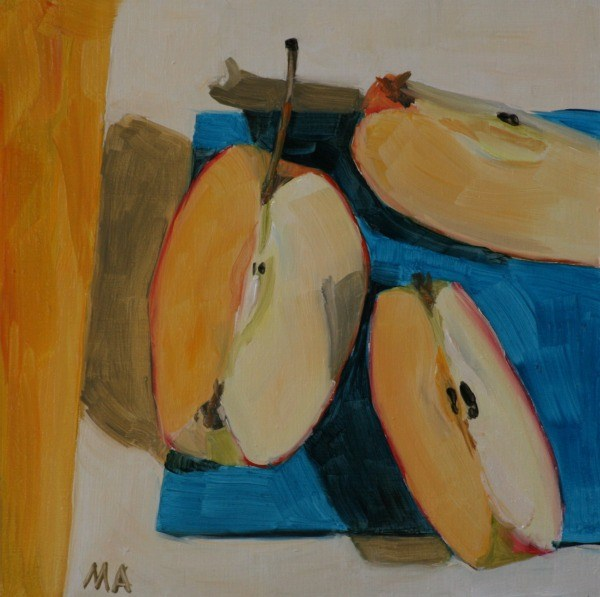 """Yellow Light"" original fine art by Aniko Makay"