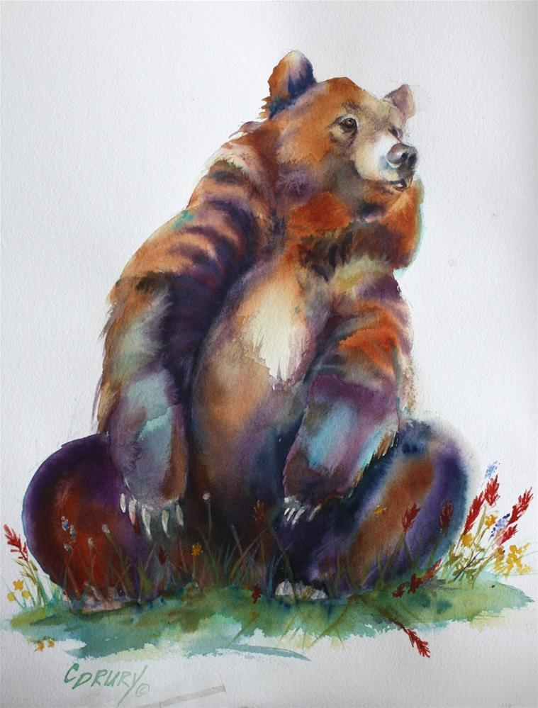 """Jolly Bear"" original fine art by Colleen Drury"