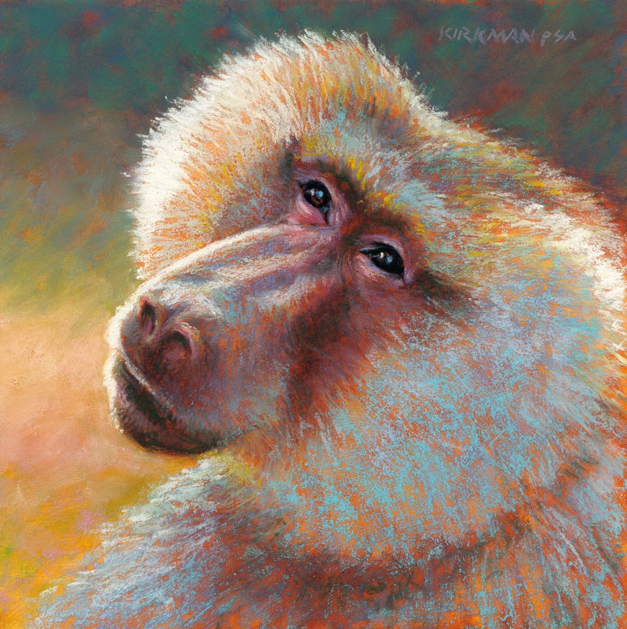 """B is for Baboon"" original fine art by Rita Kirkman"