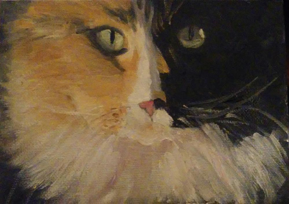 """Look into my eyes"" original fine art by Gerri Obrecht"