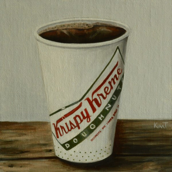 """Krispy Kreme Coffee - commission"" original fine art by Kim Testone"