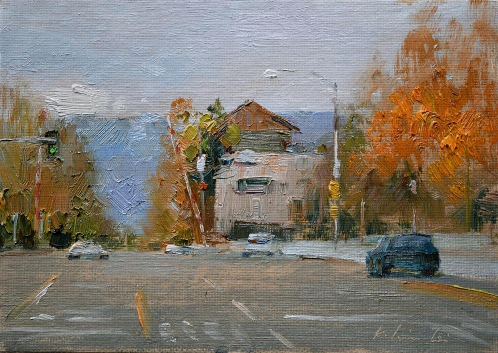 """Campbell Downtown"" original fine art by Kelvin Lei"