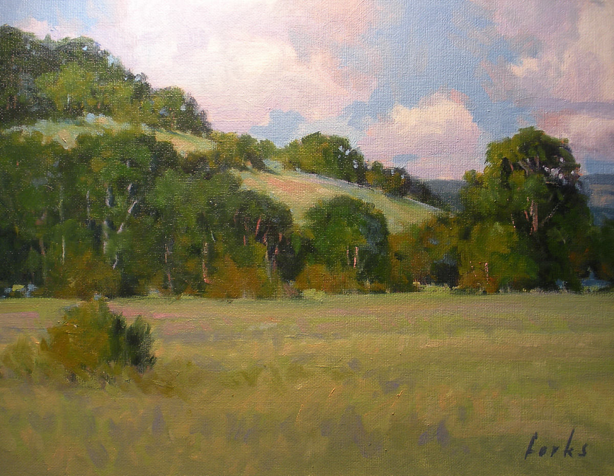 """Foot of the Hills"" original fine art by David Forks"