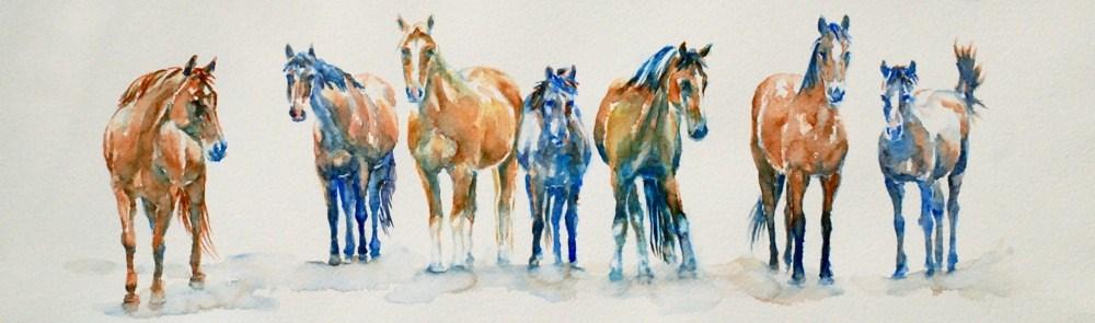 """Small Herd"" original fine art by Vicki Wood"
