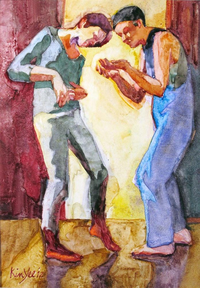 """Qu'est-ce que"" original fine art by Myriam Kin-Yee"