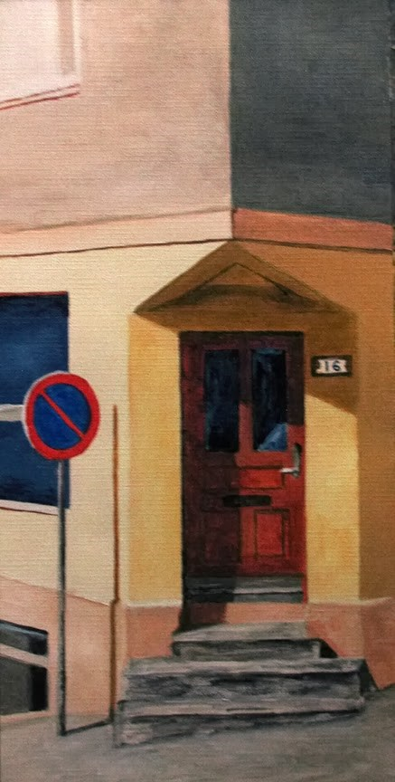 """Door & Sign"" original fine art by Nan Johnson"