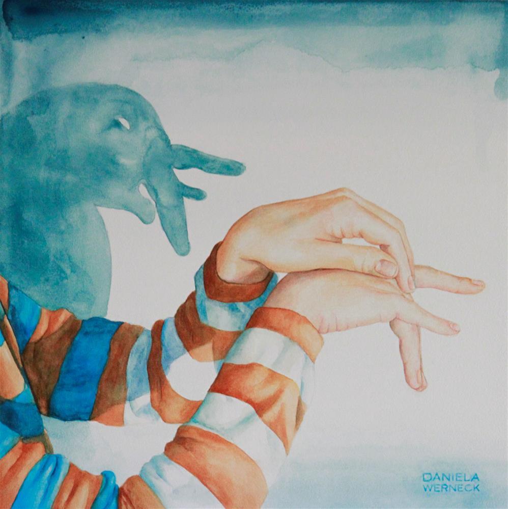 """The Shadow of an Elephant"" original fine art by Daniela Werneck"