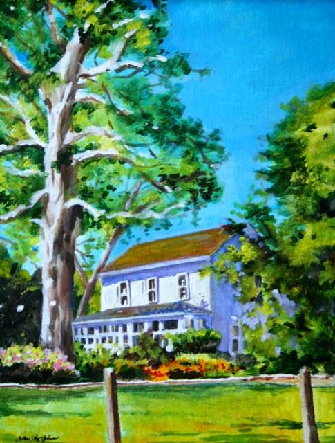 """Hecker Pass House"" original fine art by JoAnne Perez Robinson"